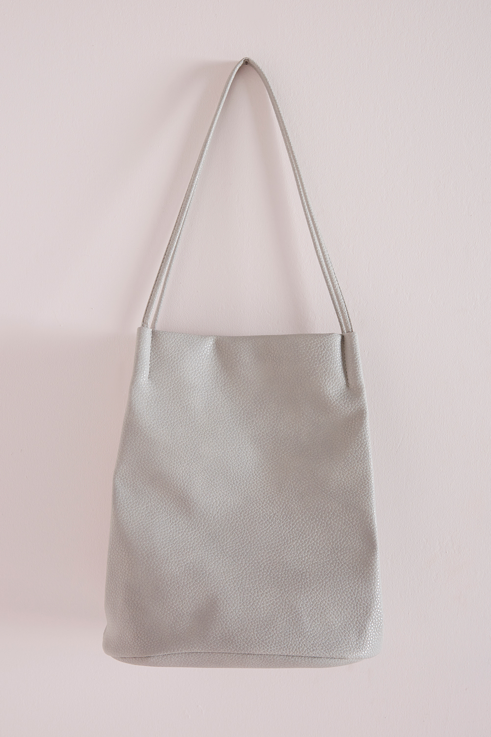 Minimal Bucket Bag Grey