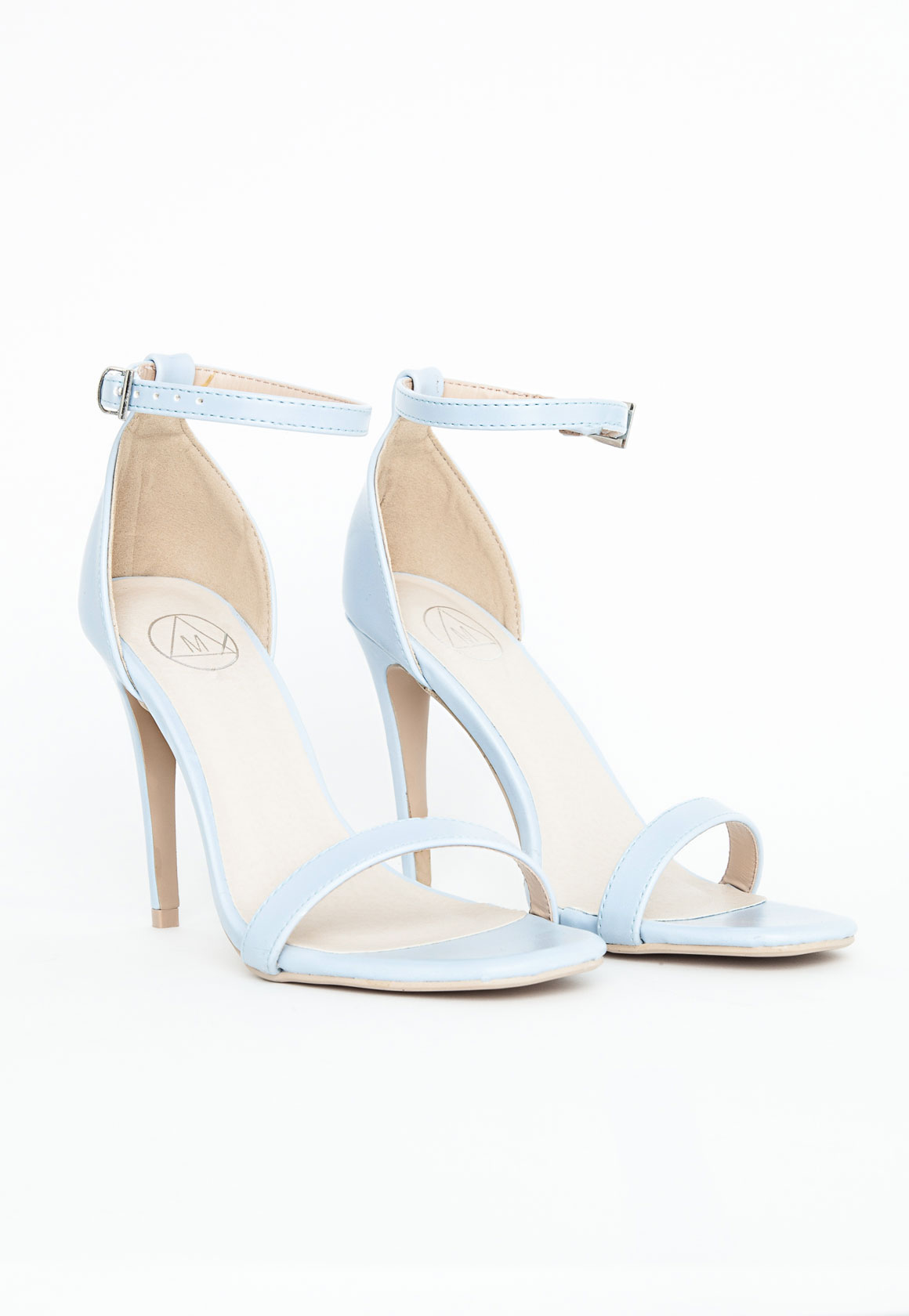 Baby Blue Blue Strappy Heeled Sandals