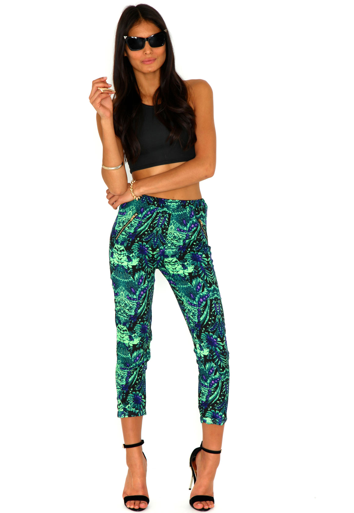 Heloise Jungle Print Tapered Trousers