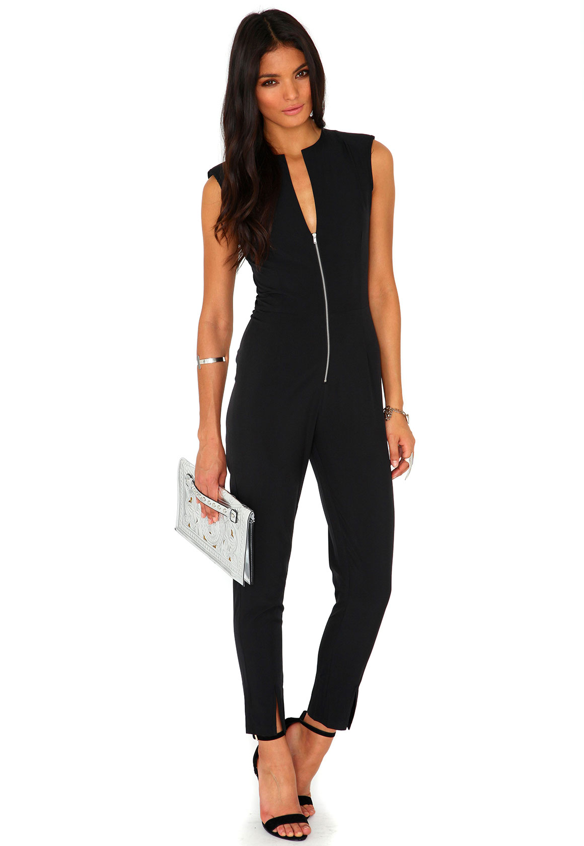 Ninette Sleeveless Zip Detail Jumpsuit