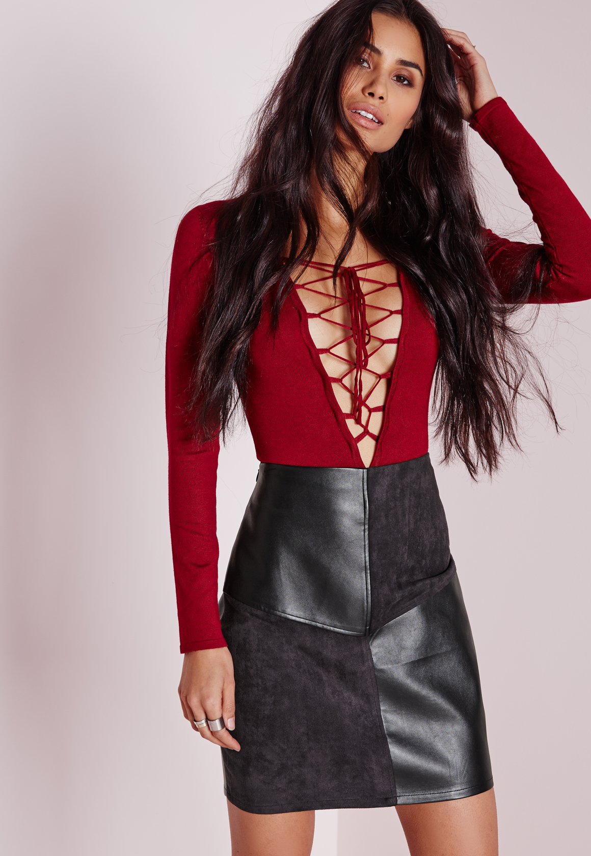 7822b1640 Missguided Faux Leather Pencil Skirt – DACC