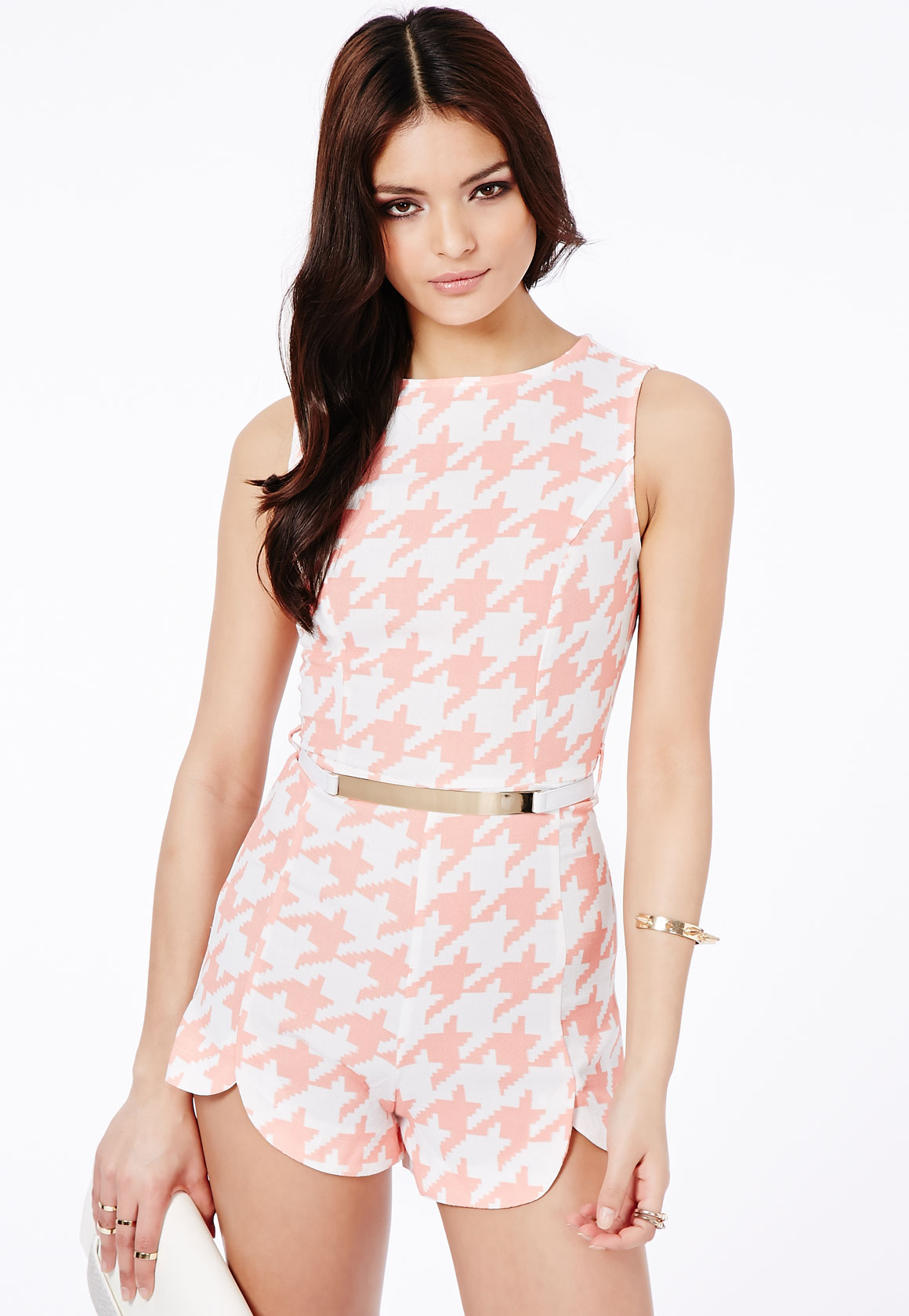 Dogtooth Tailored Belted Playsuit