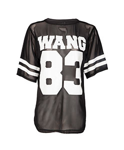 CARLIE WANG MESH AMERICAN FOOTBALL T-SHIRT