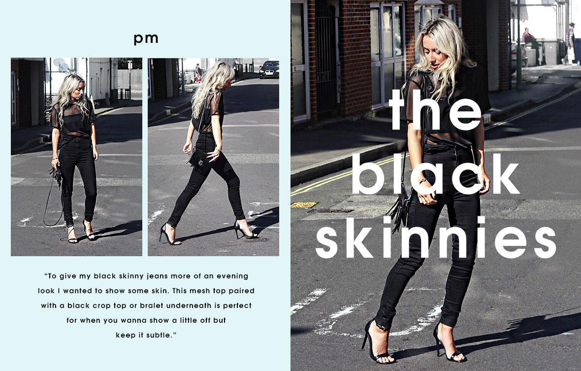 day to night denim - the black skinnies