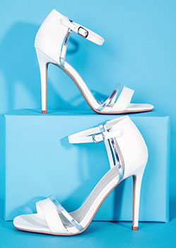 Missguided White Strappy Sandals