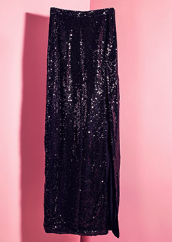 Missguided Sequin Maxi Skirt
