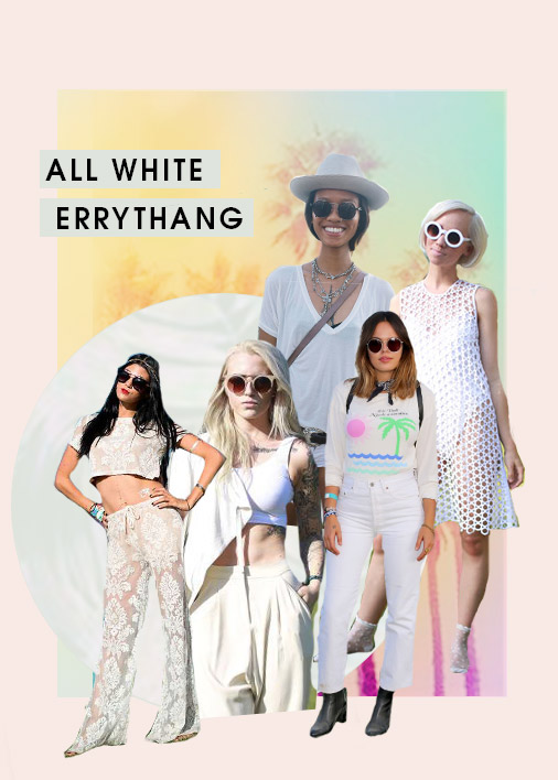 All White Everything Festival Trend