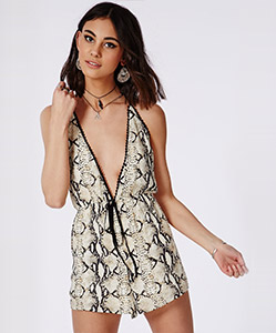 Snakeskin playsuit £30
