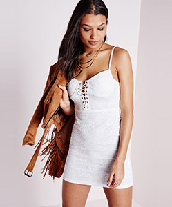 Lace up dress £35
