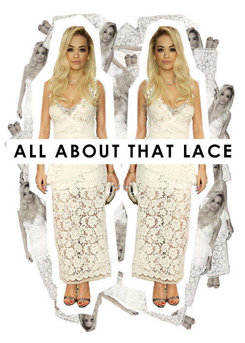 Rita Ora Lace Dress