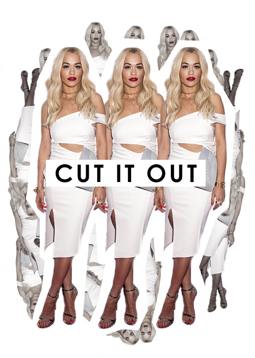 Rita Ora Cut Out Dress