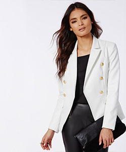 Faux leather blazer £30