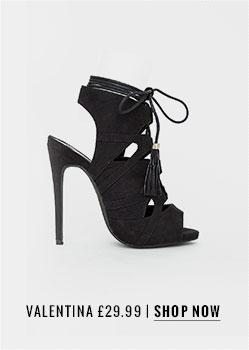 Missguided Tassle Detail Lace Up Heels