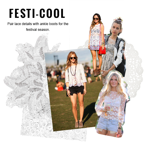 How to Wear Lace to a Festival