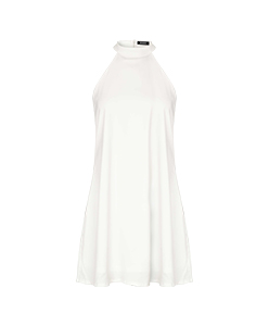 White Halterneck Dress
