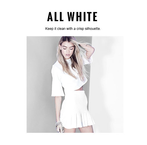 Missguided White Co-ords