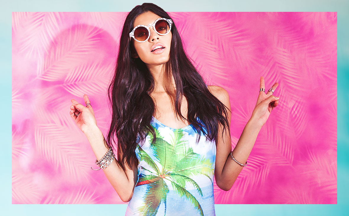 DIVENA PALM PRINT BEACH BODY