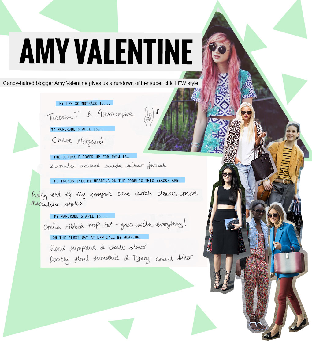 Amy Valentine's Fashion and Beauty Advice for London Fashion Week
