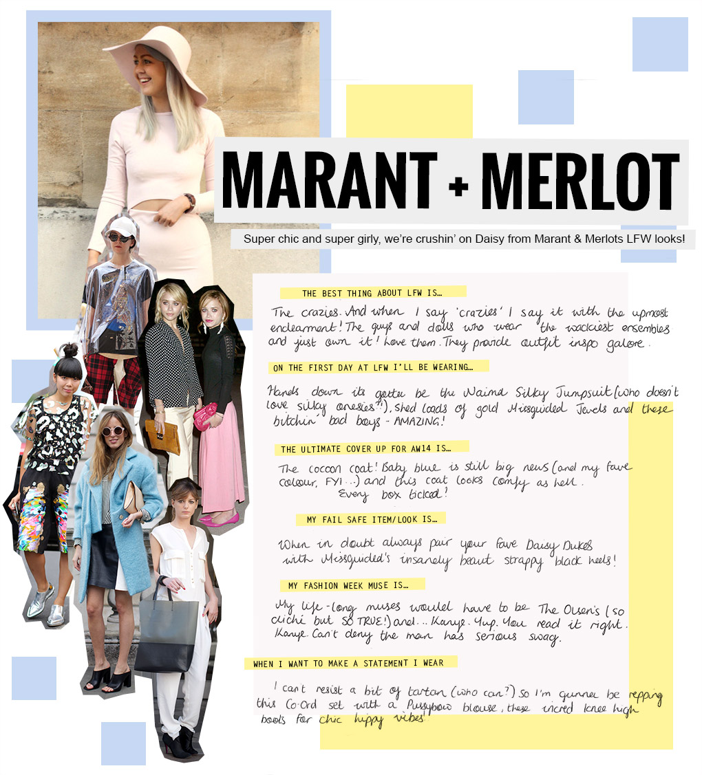 Marant and Merlot chats all things London Fashion Week with Missguided